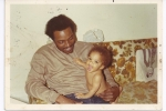 10 month old baby Tara Lyons and her daddy Harold Lyons in San Francisco, CA Jan 1972.