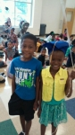 Talea and Tj Chapman.  Talea graduated from kindergarten. Children of Theo Chapman Sr.