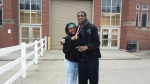Sharon's kids Moriah and Rodney Jr.
